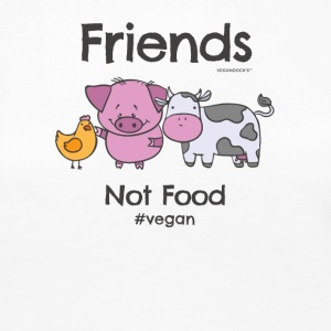 Friends Not Food TShirt for Vegans and Vegetarians - Women's Premium Longsleeve Shirt