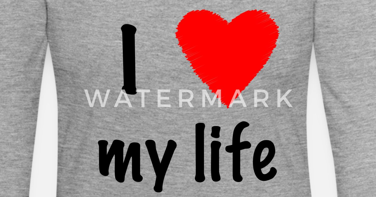 I Love My Life Vrouwen Premium Longsleeve Spreadshirt