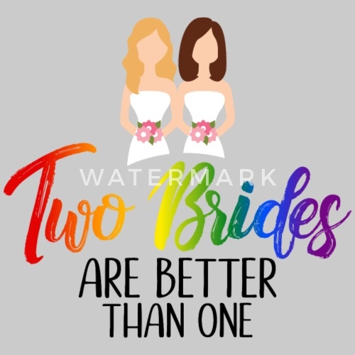 Lesbisch Hochzeit Lgbt Zwei Braute Lesben Geschenk Frauen Premium