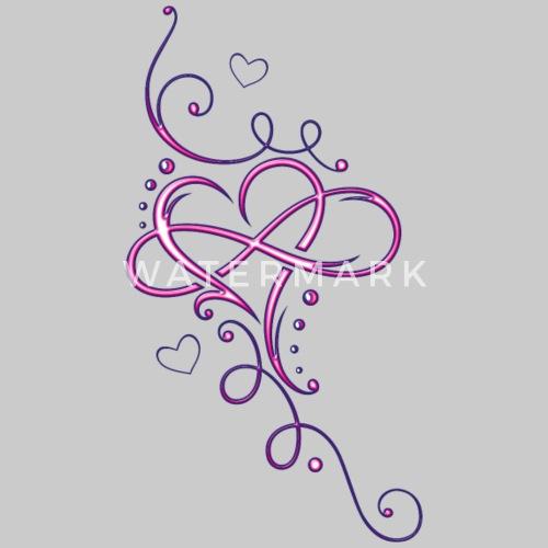 Coeur Tribal Avec Boucle Infinie Infini De Christinekrahl Spreadshirt