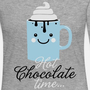 Funny cute mug with i love hot chocolate with sweet cream time slogan in cold snow freezing fall winter t-shirts for geek chic, trendy girls, gift friend christmas mothersday valentine's day