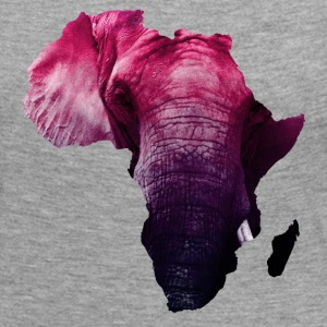 continent africa with elephant background