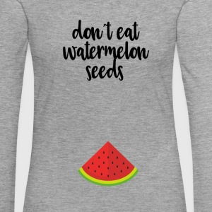 Dont eat watermelon seeds - black - Women's Premium Longsleeve Shirt