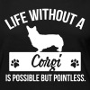 Dog shirt: Life without a Corgi is pointless - Maglietta Premium a manica lunga da donna