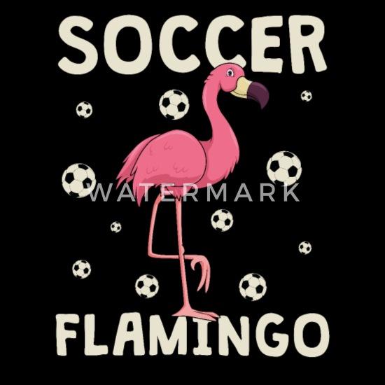 Fussballerin Madchen Fussball Rosa Flamingo Geschenk Frauen Premium Langarmshirt Schwarz