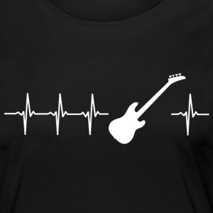 I love electric guitar (guitar heartbeat) - Women's Premium Longsleeve Shirt
