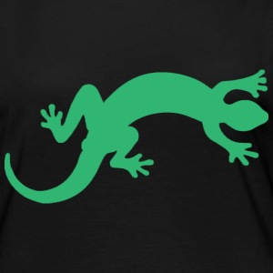 Lizard Illustration Gecko - Frauen Premium Langarmshirt