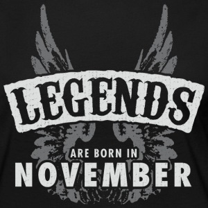 Legends are born in November Wings - Women's Premium Longsleeve Shirt