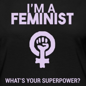 I am a feminist, what's your super power? - Women's Premium Longsleeve Shirt