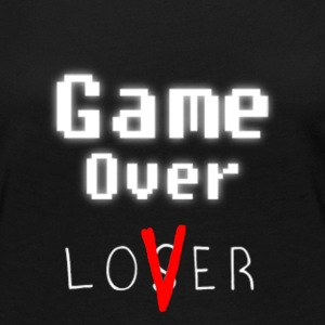 Game over lover w - Premium langermet T-skjorte for kvinner