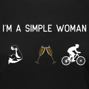 I am a simple woman - Muscles champagne - Women's Premium Longsleeve Shirt
