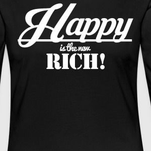 Happy is the new rich - Women's Premium Longsleeve Shirt