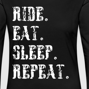Ride eat sleep repeat Reitersprüche - Frauen Premium Langarmshirt