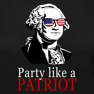 Celebration ligesom en patriot! George Washington gave - Dame premium T-shirt med lange ærmer