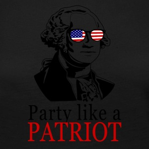 Party lide en patriot! USA shirt Patriots Shir - Dame premium T-shirt med lange ærmer