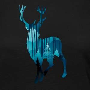Deer in the woods in the evening - Women's Premium Longsleeve Shirt