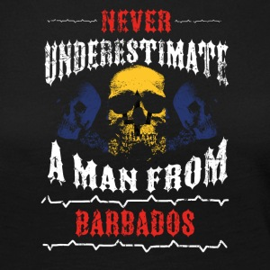 never underestimate man BARBADOS - Women's Premium Longsleeve Shirt