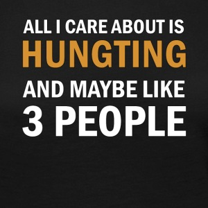 All I Care About is Hunting - Långärmad premium-T-shirt dam