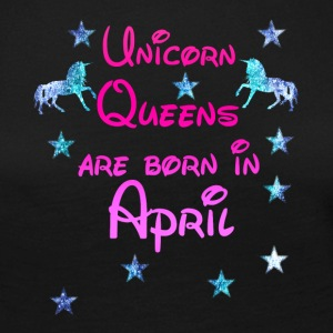 Unicorn Queens född April - Långärmad premium-T-shirt dam