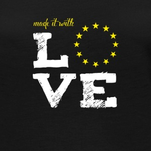 made it with love EU europe baby birth taufe star - Frauen Premium Langarmshirt