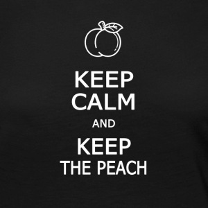 Keep calm and keep the peach - Women's Premium Longsleeve Shirt