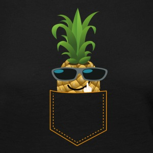 ANANAS FUCK YOU cool pineapple guy sunglasses - Frauen Premium Langarmshirt