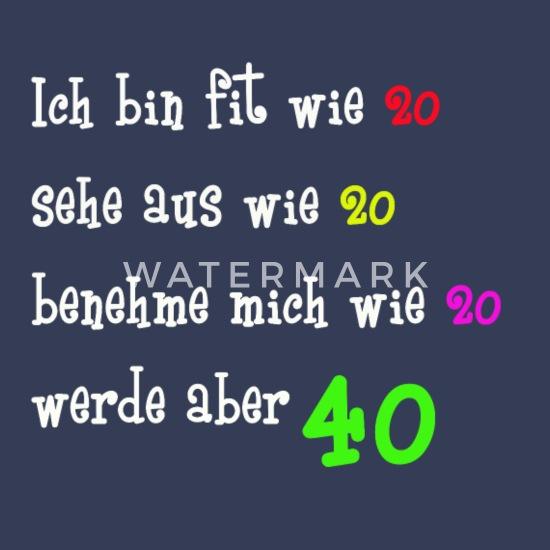 40 Frauen Männer Geburtstag Mit Frechem Spruch Frauen Premium Langarmshirt Schwarz