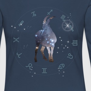univers capricorne constellation astrologie sternzeic - T-shirt manches longues Premium Femme