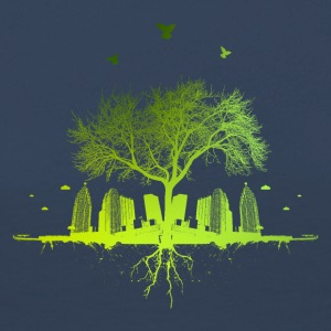 Green Tree - Natur Tree City urban - Premium langermet T-skjorte for kvinner