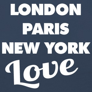 Amour LONDON | PARIS | NEW YORK - T-shirt manches longues Premium Femme