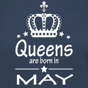 Queens are born in May - Women's Premium Longsleeve Shirt