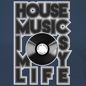 House Music is my life - Premium langermet T-skjorte for kvinner