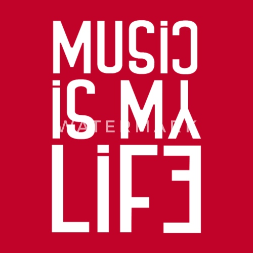 Musik Instrument Rhytmus Beat Music Is My Life Frauen Premium