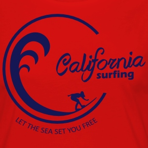 California Surfing 03 - Premium langermet T-skjorte for kvinner