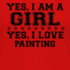 yes gift on a girl love bday gift PAINTING - Women's Premium Longsleeve Shirt