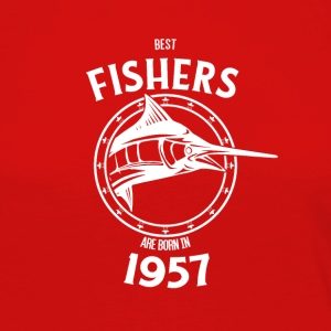 Present for fishers born in 1957 - Women's Premium Longsleeve Shirt