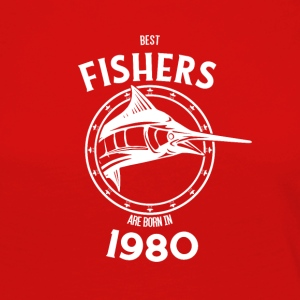 Present for fishers born in 1980 - Women's Premium Longsleeve Shirt