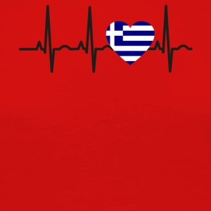 I LOVE ekg heartbeat Greece greece - Women's Premium Longsleeve Shirt