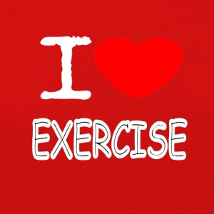 I LOVE EXERCISE - Women's Premium Longsleeve Shirt