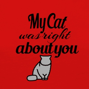 My Cat was right about you - Women's Premium Longsleeve Shirt