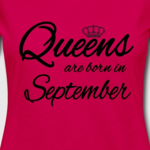 Queens Born september Bursdag: - Premium langermet T-skjorte for kvinner