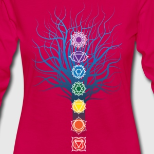 7 chakras on Tree - Women's Premium Longsleeve Shirt