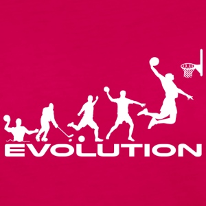 Basketball evolution - Dame premium T-shirt med lange ærmer