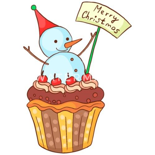 Weihnachten Cupcake Muffin Kuchen Backen Kinder Premium Langarmshirt