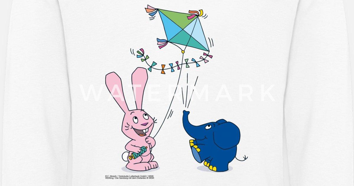 elefant und hase  drachen kinder premium langarmshirt