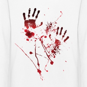 Blood Print - Blood Hands - Blood Splatters - Blood - Kids' Premium Longsleeve Shirt