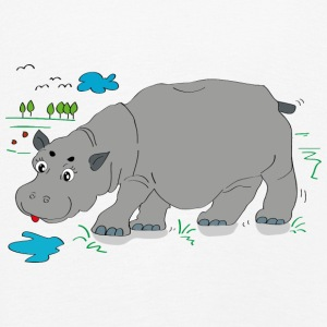Hippo meadow - Kids' Premium Longsleeve Shirt