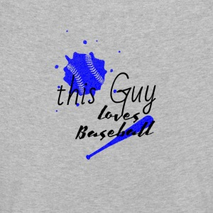 dieser typ liebt baseball | this guy love baseball - Kinder Premium Langarmshirt