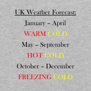 UK Weather Joke - Kids' Premium Longsleeve Shirt