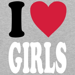 I love GIRLS (all colors!) - Kids' Premium Longsleeve Shirt